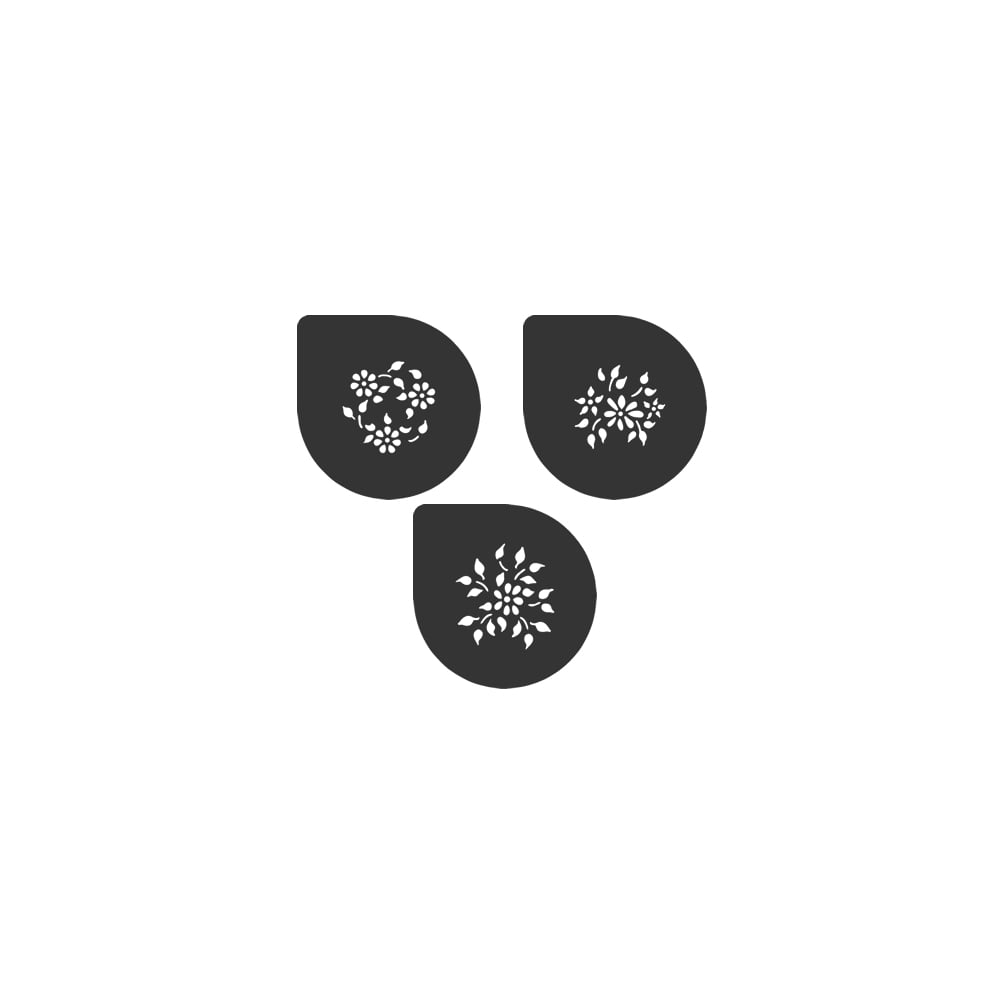 Cake Decorating Stencils Uk : Cake Lace Sophia Flowers Stencil Set Of 3 - Tools ...