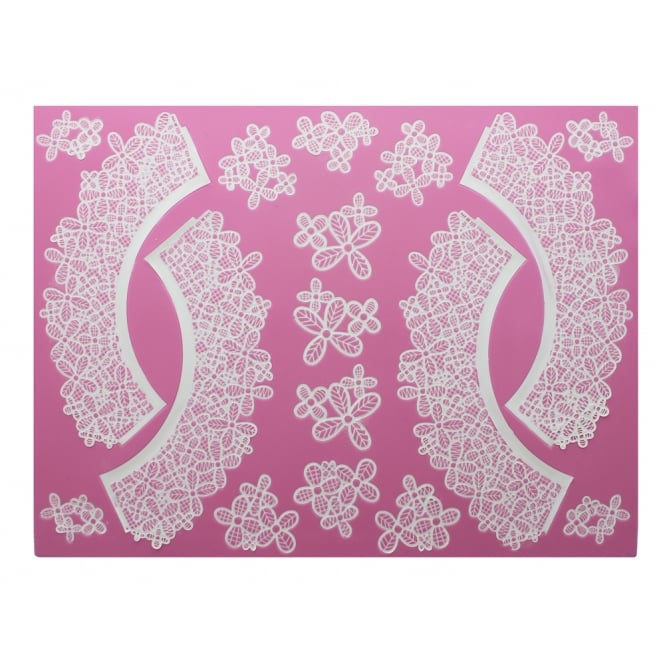 Cake Lace Victoriana - 3D Large Lace Cupcake Wrapper Mat