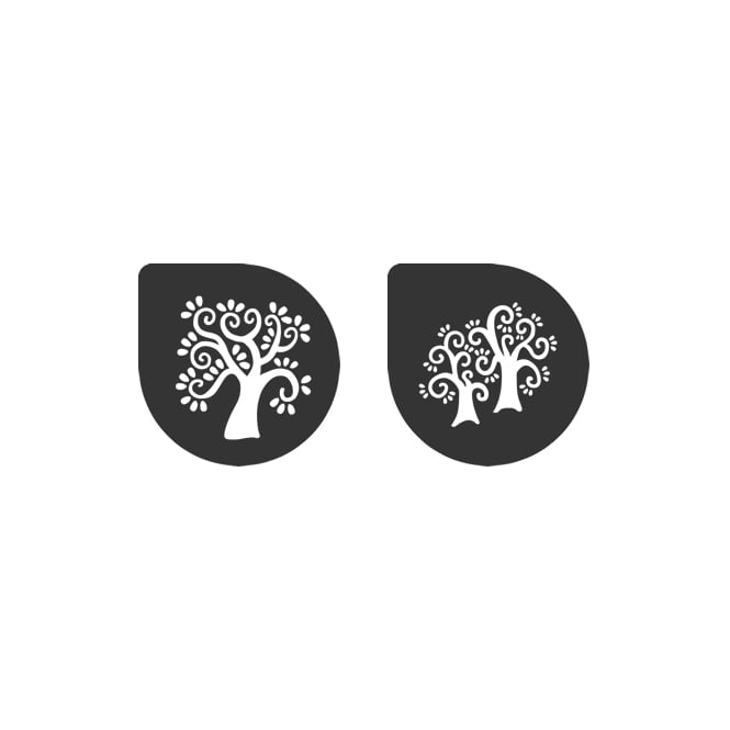 Cake Lace Vintage Trees Stencil Set Of 2