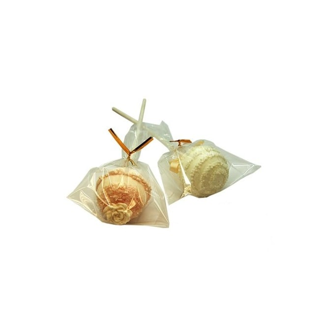 Cake Pop Bags With Gold Twist Ties 3x5 Inch