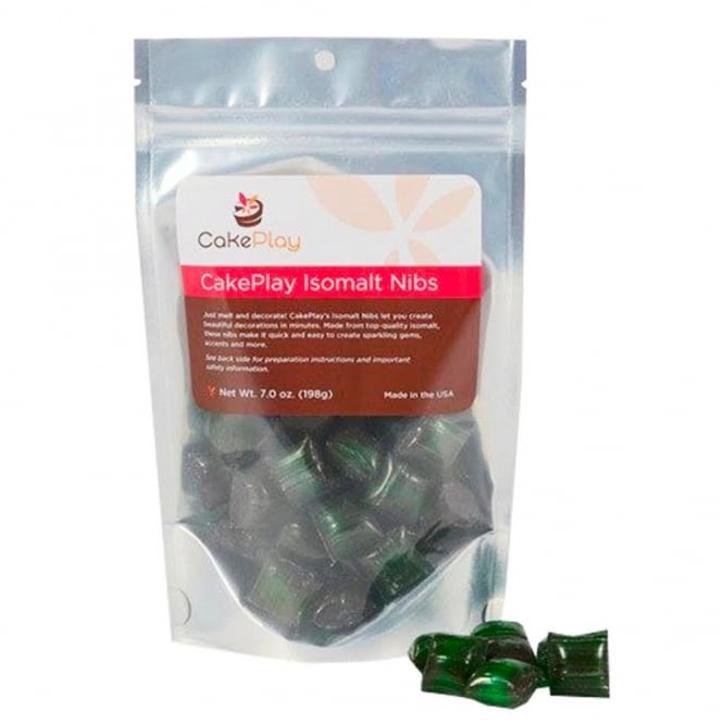 Cakeplay Emerald Green - Isomalt Nibs Pack 198g
