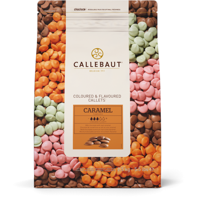 Callebaut Caramel Flavoured - Belgian Couverture Chocolate 2.5kg