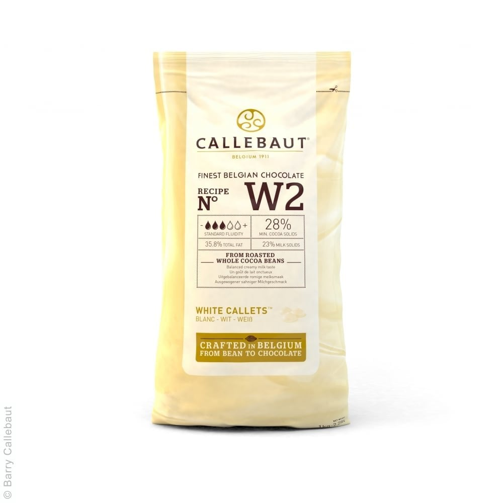 Callebaut White - Belgian Couverture Chocolate 1kg - Chocolate ...