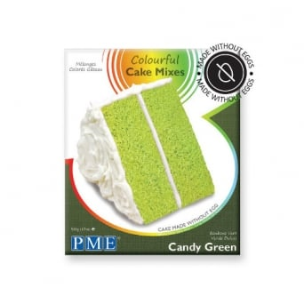 Candy Green Colourful Egg Free Cake Mix 500g - PME