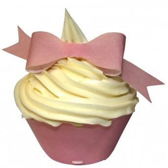 Baby Pink Edible Bow Toppers Pack of 10