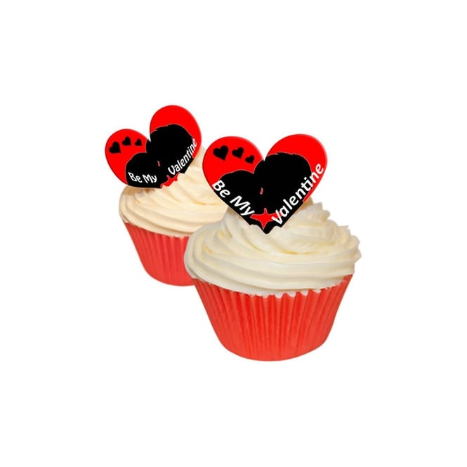 CDA Products  Edible Valentine Toppers Be My Valentine x 12