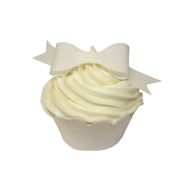 CDA Products Ivory Edible Bow Toppers Pack of 12