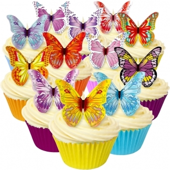 Mixed Edible Butterfly Toppers - Pack Of 12