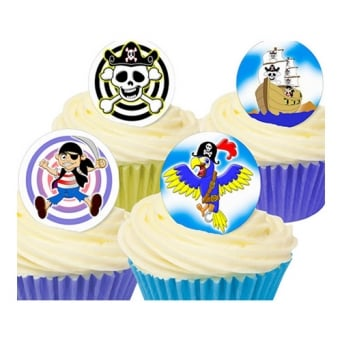 Pirate Edible Toppers - Pack Of 12