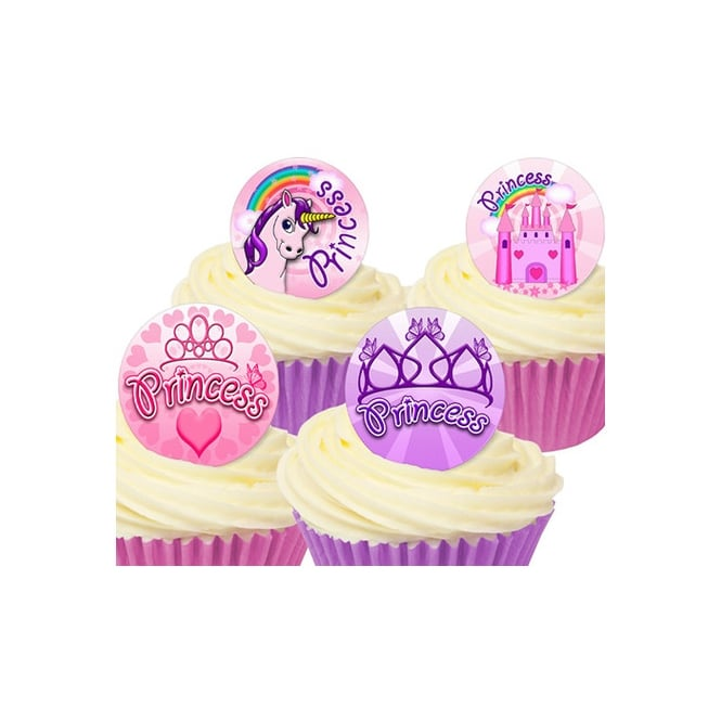 CDA Products  Princess Edible Toppers - Pack Of 12