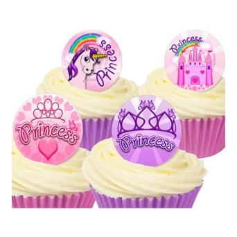 Princess Edible Toppers - Pack Of 12