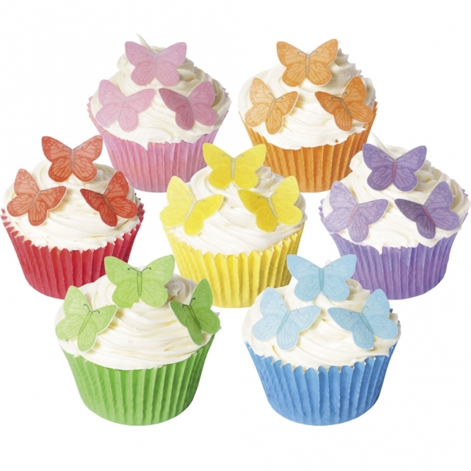 CDA Products  Small Vivid Edible Butterfly Toppers - Pack Of 42