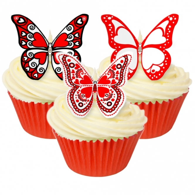 CDA Products Valentine Print Edible Butterfly Topper ...
