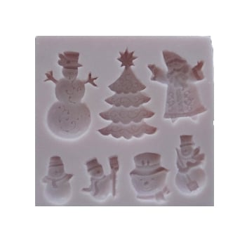 Christmas Accessories 4 Mould By Sunflower Sugar Art