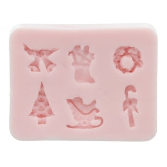 Christmas Design Mould By Sunflower Sugar Art