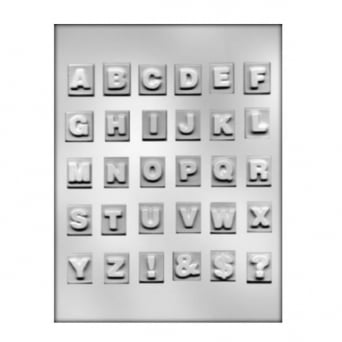 1 Inch Alphabet Chocolate Mould