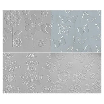Butterflies And Flowers Assortment Embossing Mats