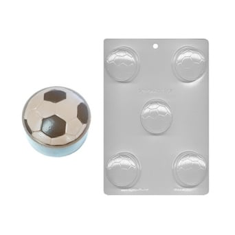 Football Soccer Ball Chocolate Cookie Mould 2 - Holds 5
