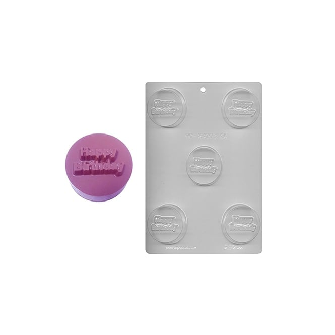 CK Products  Happy Birthday Chocolate Cookie Mould Holds 5