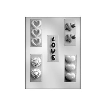 Love And Heart Bars Valentines Chocolate Mould