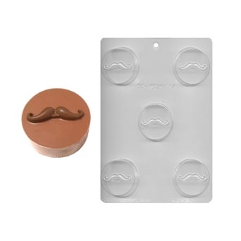 Movember Mustache Chocolate Cookie Mould Holds 5