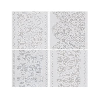Scalloped, Filigree, Vintage And Royal Lace Embossing Mats