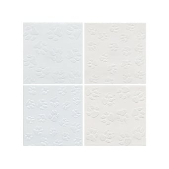 Paw Print Assortment Impression Mat Pack Of 4