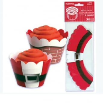 Reversible Christmas Santa Treat Wrappers - Pack Of 48