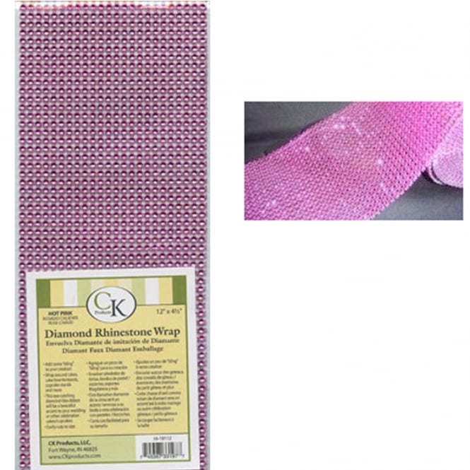 CK Products Diamond Rhinestone Wrap Hot Pink