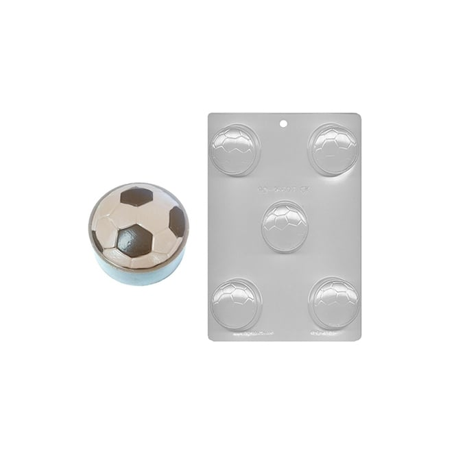 CK Products  Football Soccer Ball Chocolate Cookie Mould 2 - Holds 5