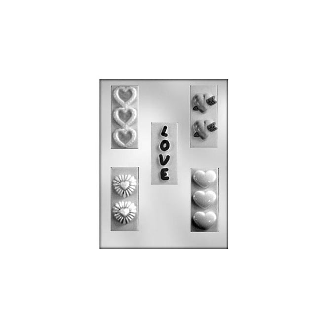 CK Products Love And Heart Bars Valentines Chocolate Mould