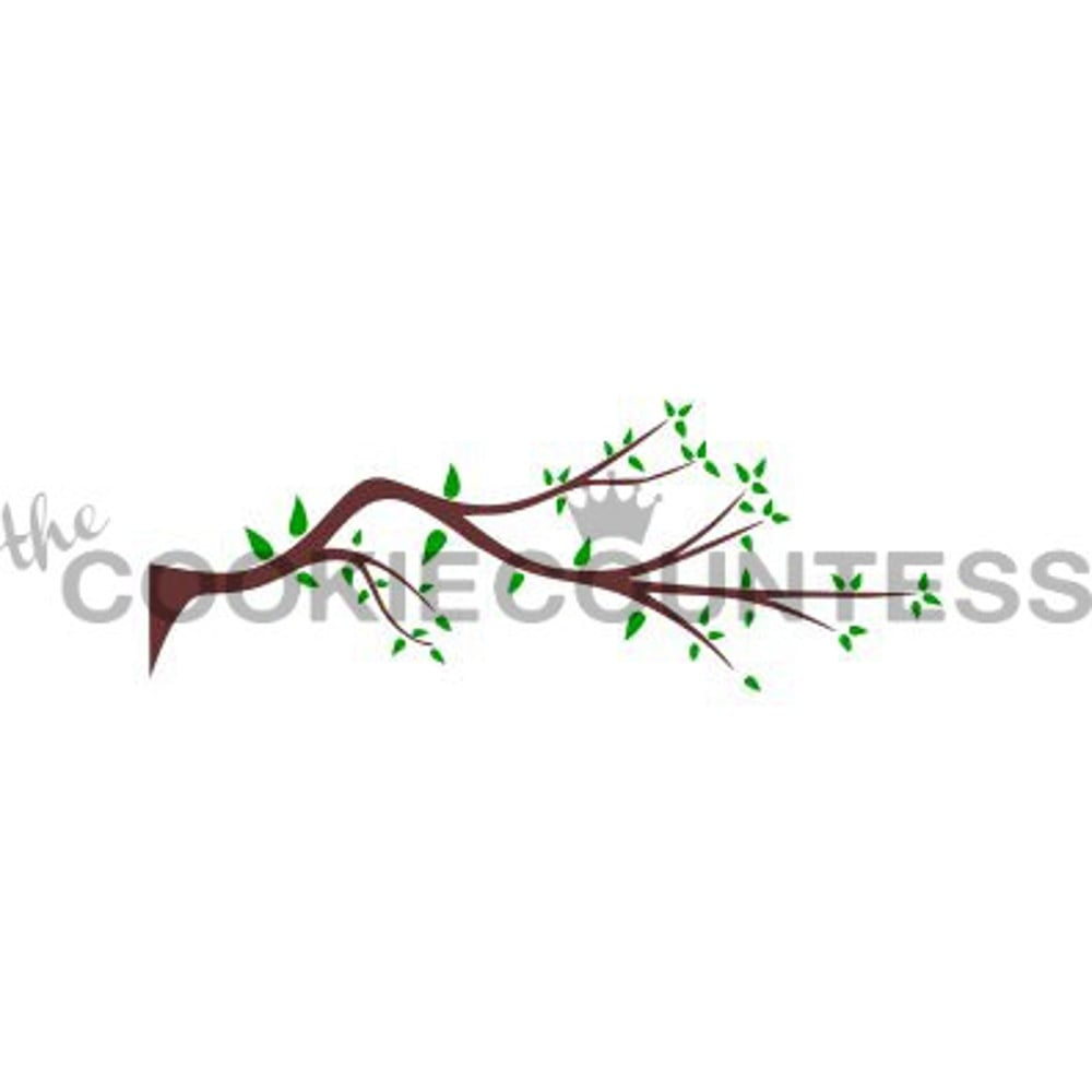 cookie countess 2 piece branch and leaves cookie stencil set