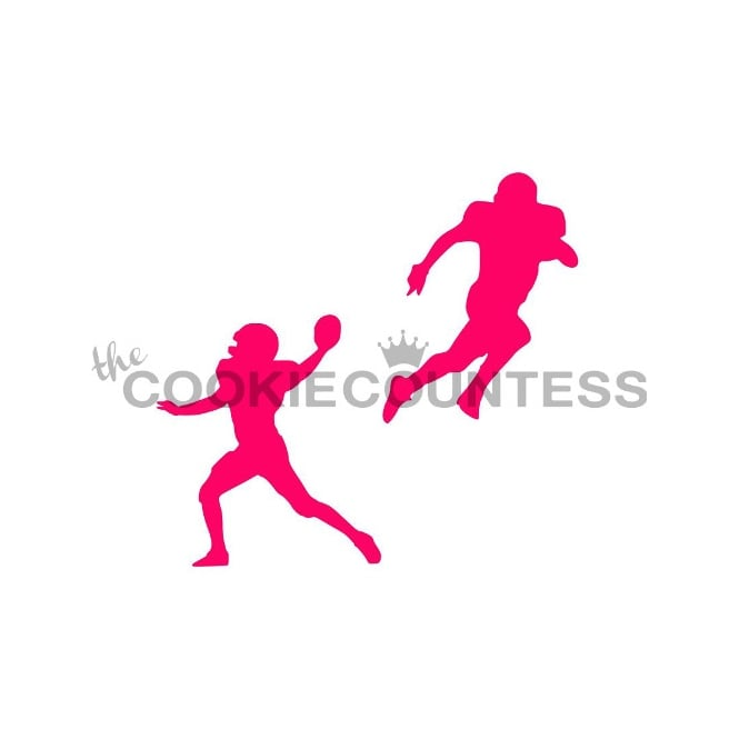 Cookie Countess American Football Players Cookie Stencil