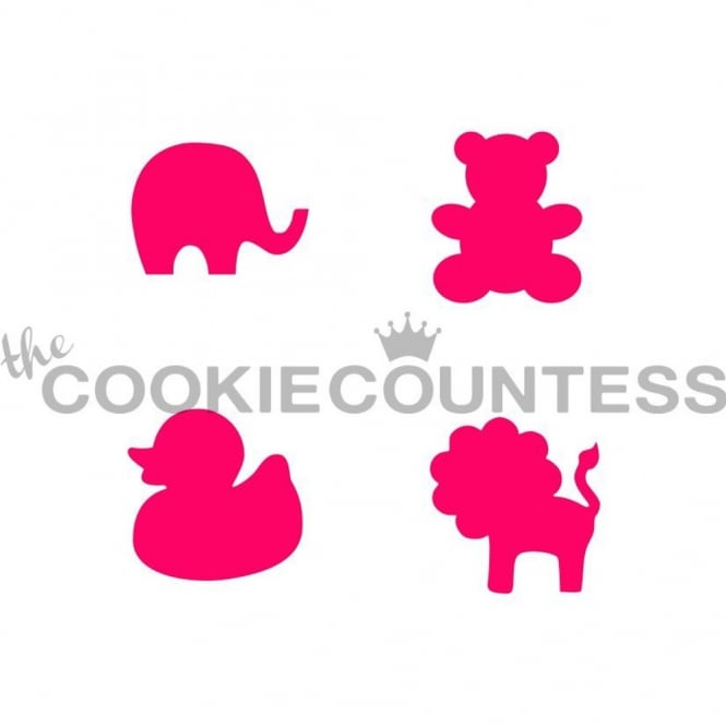 Cookie Countess Baby Animals Silhouette Cookie Stencil