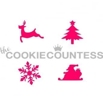Christmas Assortment Cookie Stencil
