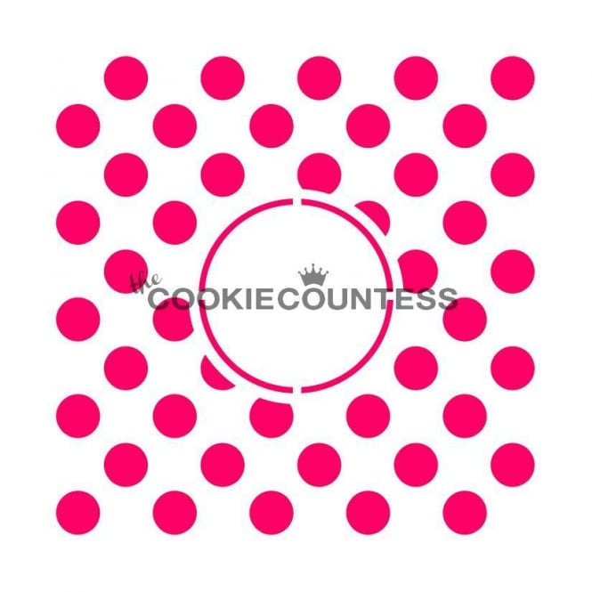 Cookie Countess Polka Dots Monogram Cookie Stencil