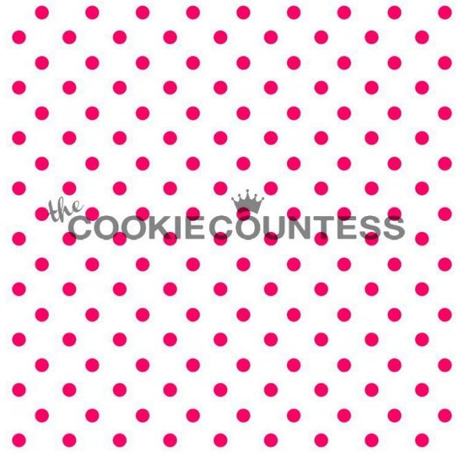 Cookie Countess Tiny Dot Cookie Stencil