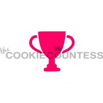 Trophy Silhouette Cookie Stencil