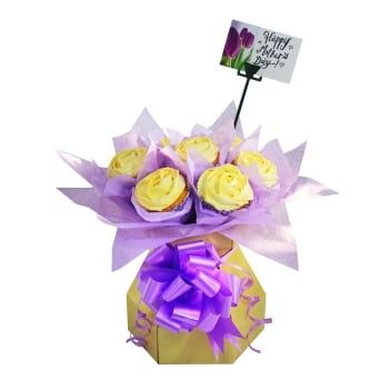 Cream Cupcake Bouquet Box Kit