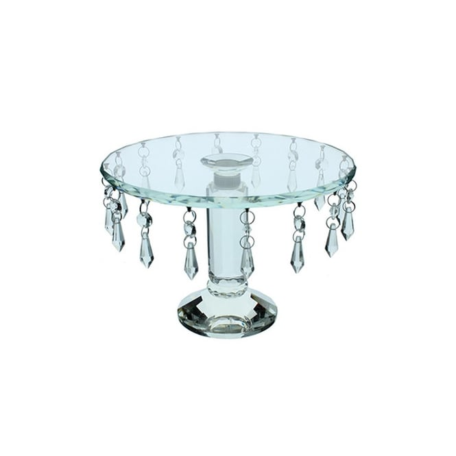 Cake Lace Crystal Revolving 10 Inch Cake Stand
