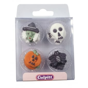 Assorted Halloween Royal Icing Toppers x 12