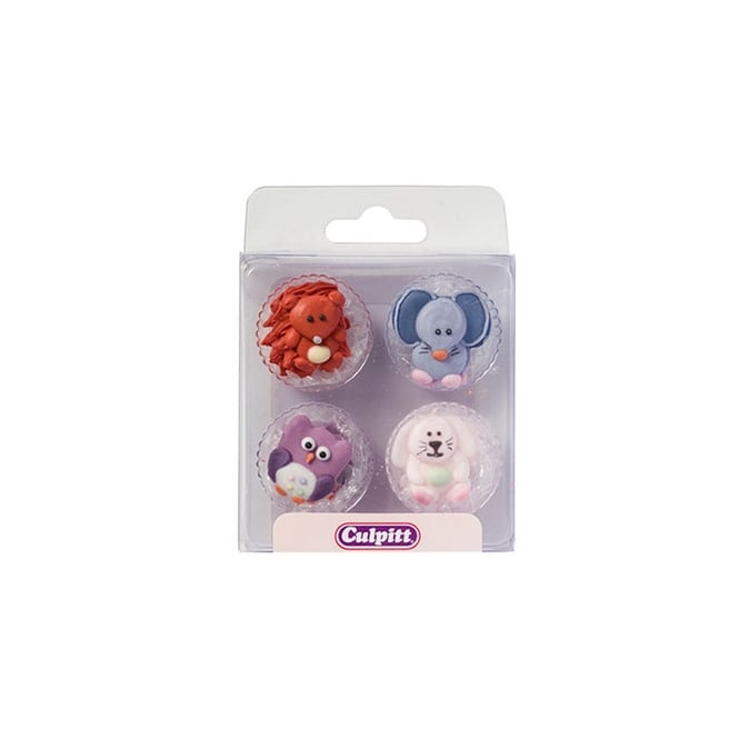 Culpitt Baby Animals Edible Royal Icing Toppers x 12