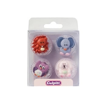 Baby Animals Edible Royal Icing Toppers x 12