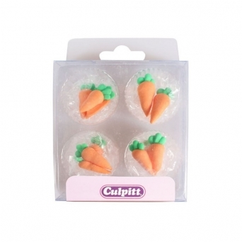 Carrot Edible Royal Icing Toppers x 12