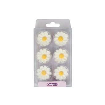 Daisy Edible Royal Icing Toppers x 12
