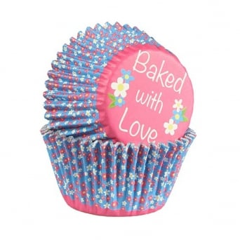 Ditsy Daisy - Foil Baking Cups x 25 - Baked With Love