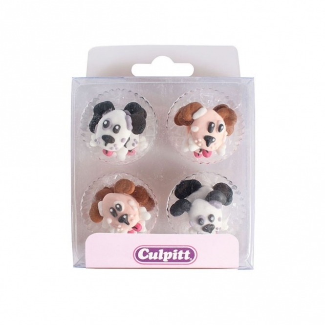 Culpitt Dog With Bone Edible Royal Icing Toppers x 12
