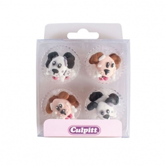 Dog With Bone Edible Royal Icing Toppers x 12