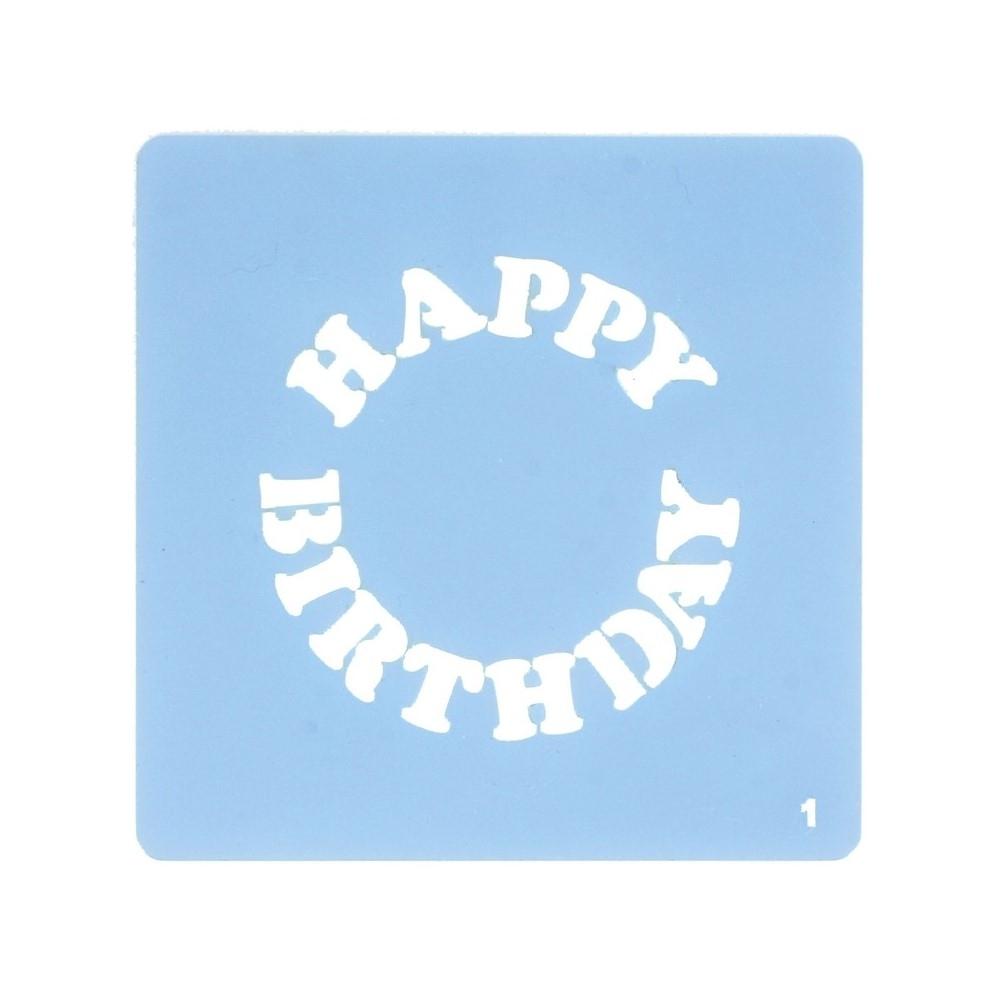 Culpitt Happy Birthday Stencil
