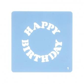 Happy Birthday Stencil Culpitt